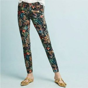 Anthropologie Pilcro Floral Skinny Jeans